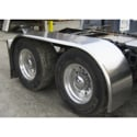 Aluminum Full Fender - 102in x 32in