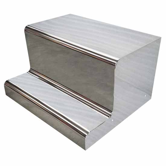 Stainless steel battery box lid fits peterbilt
