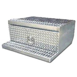 Polished Aluminum 24 inch Tool Box Fits Peterbilt