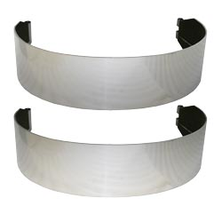 8 Inch Wide 304 Stainless Steel Fuel Tank Strap Kit For Peterbilt With 26 Inch Tank