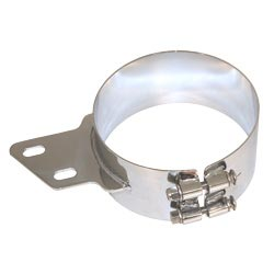 6 Inch Angled Chrome-Plated Stainless Steel Exhaust Mounting Clamp For Peterbilt