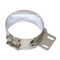 Wide Mounting Clamp 7 Inch Straight Bracket Chrome Plated Stainless Steel for Peterbilt