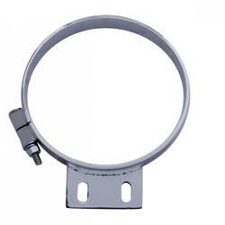Chrome 8 Inch Exhaust Mounting Clamp Fits Peterbilt