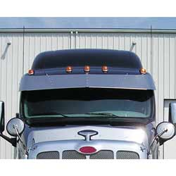 16 Inch Stainless Steel Drop Visor Fits Peterbilt 387