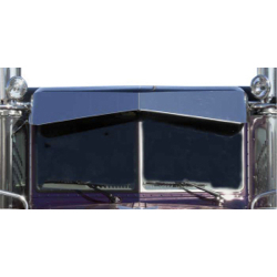 Stainless Steel Bowtie Visor - 13in For Peterbilt