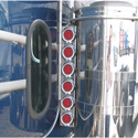 Stainless Steel 6 Light Rear Air Cleaner Panels for Peterbilt