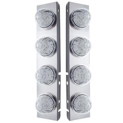 Stainless Steel Front Air Cleaner Lights Fits Peterbilt 379 & 389