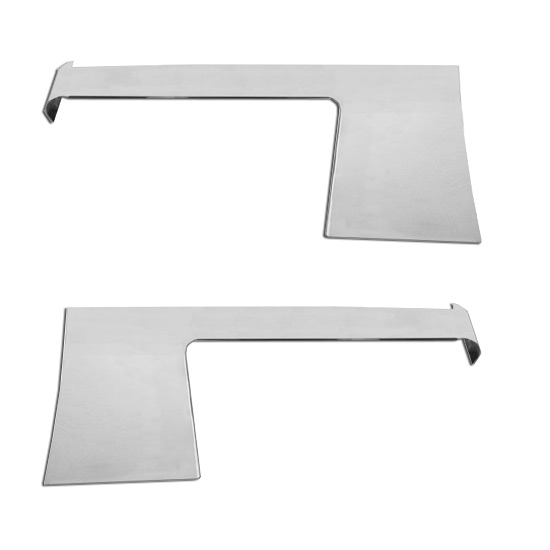5 Inch Stainless Steel Blank Cab Cowl Panels Fits Peterbilt 389 Glider  (Pair)