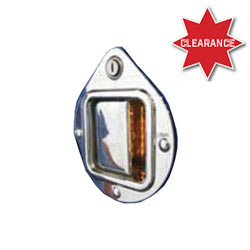 Chrome Plastic Door Handle Cover With 6 Red LEDs Fits Peterbilt Passenger