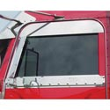 Polished Stainless Upper Door Trim - Peterbilt 2005 & Up
