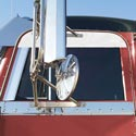 Polished Stainless Upper Door Trim Fits Peterbilt 2004 & Older