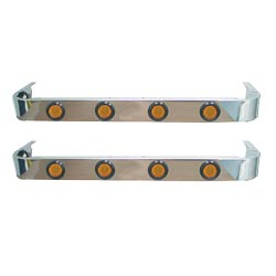 Stainless Steel 3.5 X 36 Inch Sleeper Panels With 8 Amber LEDs