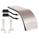 Hogebuilt Stainless Steel Half Fender Kit for Peterbilt Air Leaf