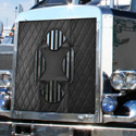 Belmor Black Quilted Winter Front Fits Peterbilt 379 127BBC
