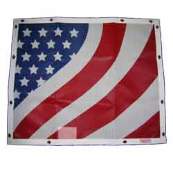Patriotic Bug Screen Truck Grille Cover Fits Peterbilt