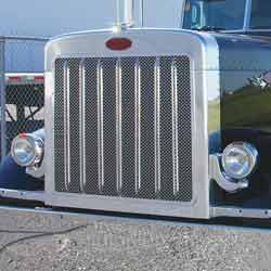 Stainless Custom Grille Insert Only With Oval Holes Fits Peterbilt 379