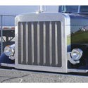 Stainless Steel Grille Insert With Oval Holes Fits Peterbilt