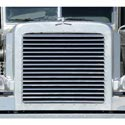Stainless Steel Louvered Grille With 17 Bars Fits Peterbilt 388 & 389