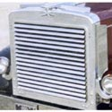 Stainless Steel Louvered Grille w/ 16 Bars for Peterbilt 359