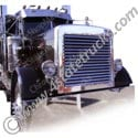 Stainless Steel Grille with Louvers for Peterbilt
