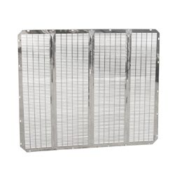 Stainless Steel Classic Style Grille Insert Fits Peterbilt 379 Long Hood