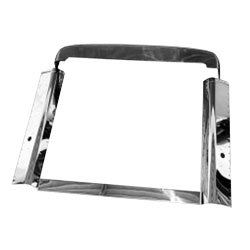 Stainless Steel Grille Surround Kit for Peterbilt 378 & 357