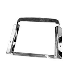Stainless Steel Grille Surround Fits Pete 379 Short Hood