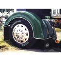 Fiberglass Front Fender - Ribbed Style For Peterbilt