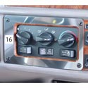 Stainless Steel AC/Heater Control Panel Outer Trim Fits Peterbilt