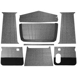 6 Piece Gray Vinyl Upholstery Kit Fits Peterbilt 379 & 378 Day Cab