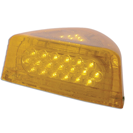 37 Diode Amber LED Turn Signal For Peterbilt 378 & 379 With Amber Lens