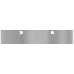 RoadWorks 18 Inch Stainless Steel Standard Boxed End Bumper With Tow Hole Fits Kenworth W900