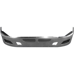 14 Inch Chrome Aero Style Bumper With Tow & Fog Light Holes Fits Kenworth T660
