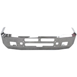 18 Inch Chrome Aero Bumper With Fog, Step, Tow & Vent Holes Fits Kenworth T600