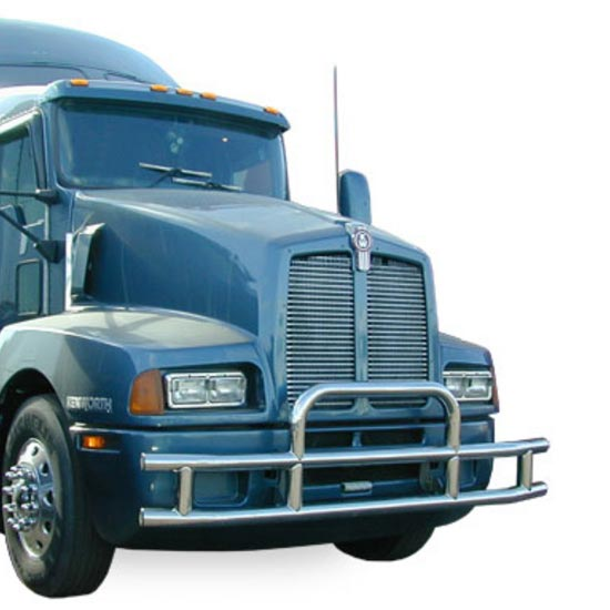 Truck Grill Guards And Bumpers : Kenworth t tuffguard bumper grille guard state trucks