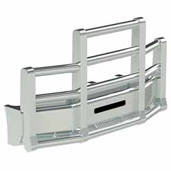 Herd Super Road Train Grille Guard With Slam Latch Fits Kenworth T660