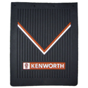 Black Rubber 24 Inch x 30 Inch Kenworth Logo Mud Flap