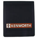 Black Rubber 14 Inch x 16 Inch Kenworth Logo Mud Flap