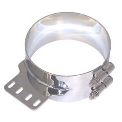 8 Inch Chrome-Plated Stainless Steel Non AeroCab Exhaust Mounting Clamp