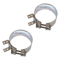 6 Inch Chrome-Plated Upper Exhaust Clamp Kit For Kenworth AeroCab