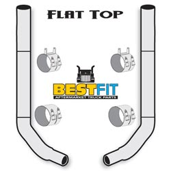 BestFit Exhaust Kit - Flat Top 7x108 Inch With 45 Inch Steps & K180-18616 Elbow
