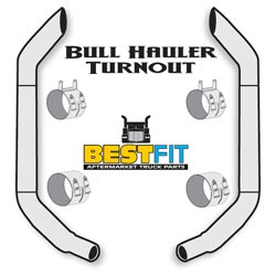 Best Fit Exhaust Kit - Bull Hauler Turnout 7x108 Inch W/40 Inch Steps & K180-18615 Elbow