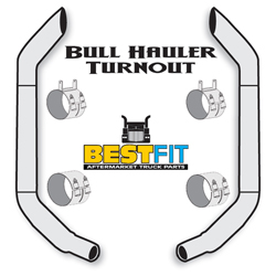 Best Fit Exhaust Kit - Bull Hauler Turnout 7x96 Inch W/40 Inch Steps & K180-18615 Elbow