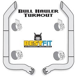 Best Fit Exhaust Kit - Bull Haulers 8x108 Inch Non Aerocab & K180-14764 Elbow