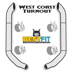 BestFit 8-5 X 96 Inch Exhaust Kit With West Coast Turnout Stacks & K180-18616 Elbow