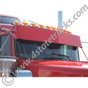 Aluminum Drop Visor for Kenworth Curved Windshield