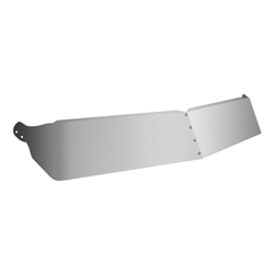 11 Inch Stainless Steel Drop Visor Fits Kenworth W900/T800 Day Cab With Flat Glass