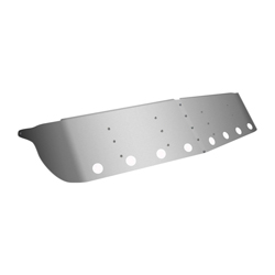 13.5 Inch Stainless Steel Drop Visor Fits Kenworth T800 & W900