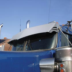 Stainless 13 inch Dropped Visor for Kenworth W900