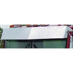 Stainless Steel Monster Drop Bowtie Visor for Kenworth